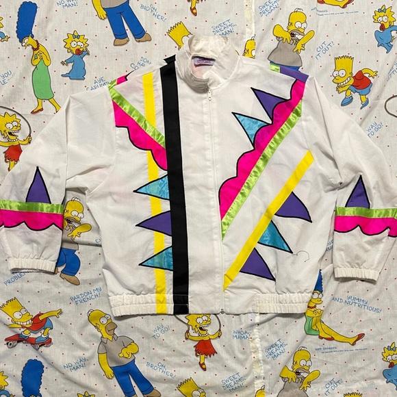 Vintage 80s Colorful Funky Jacket